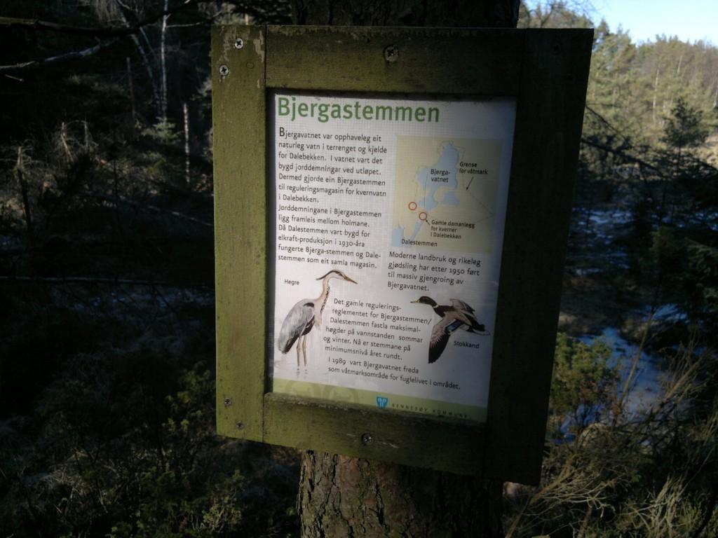 Informasjonstavler i skogen