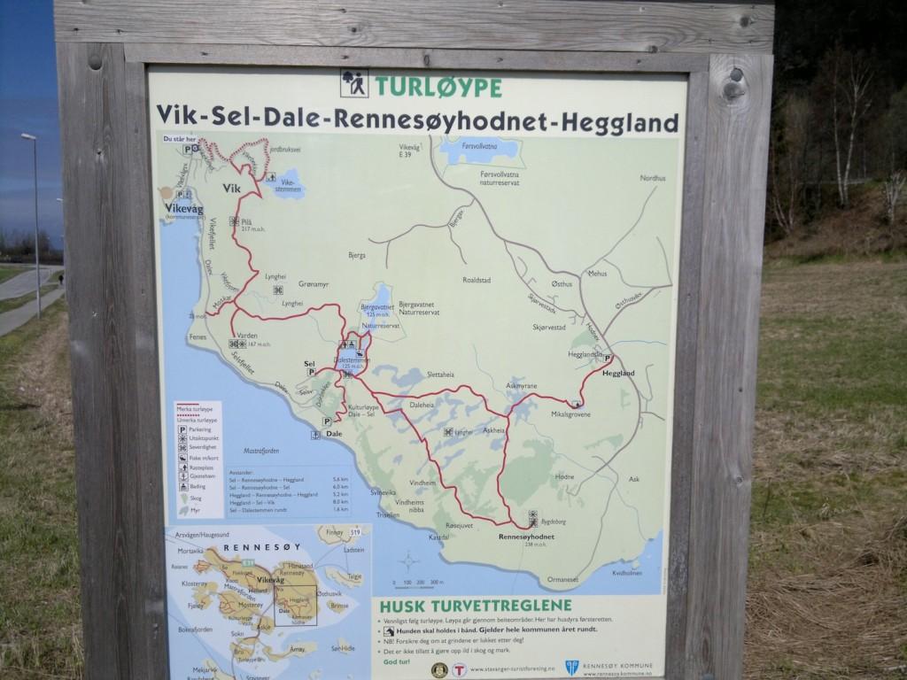 Skiltet ved turens startpunkt
