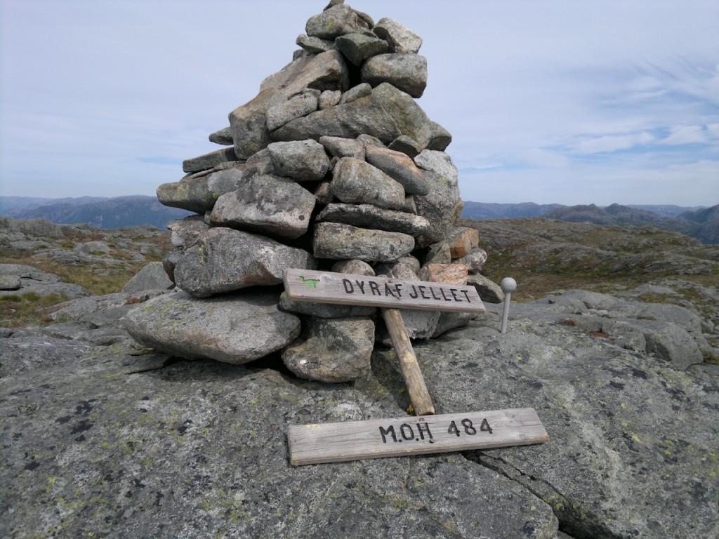 Skiltet på Dyrafjell