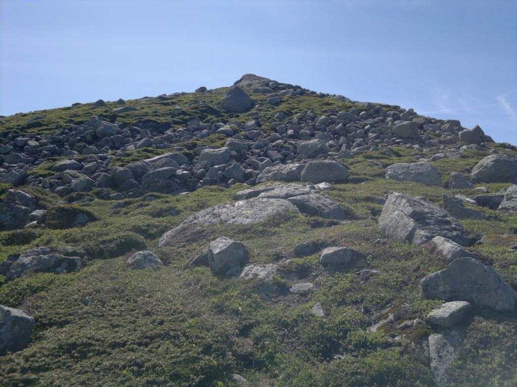 Siste bakke opp på baksiden av fjellet