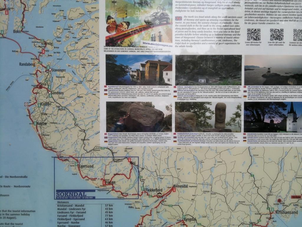 Kart over stedet