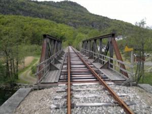 En av bruene på Flekkefjordbanen