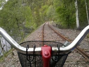 Utsikt fra sykkelstyret