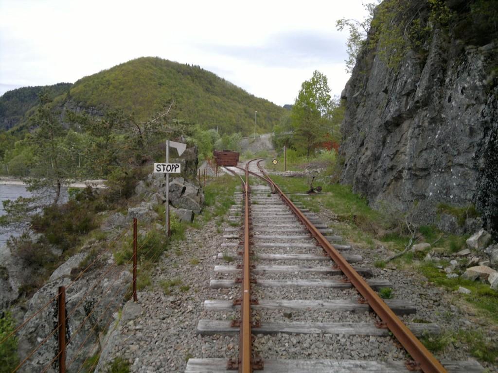 Her borte lå Sirnes stasjon en gang i tiden