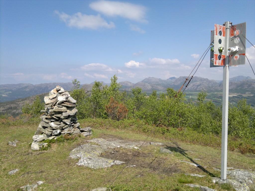 Toppen av Barkafjell 419 m.o.h.