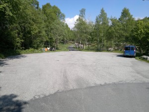 Parkeringsplassen ved ferista