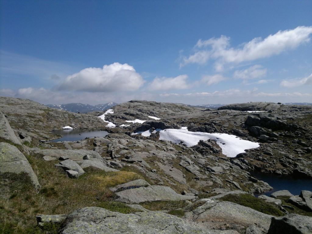 Fortsatt noen snøflekker igjen 31 mai