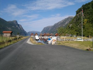 Startpunkt ved kaien i Frafjord