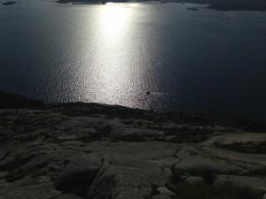 Bratt ned mot Gandsfjorden
