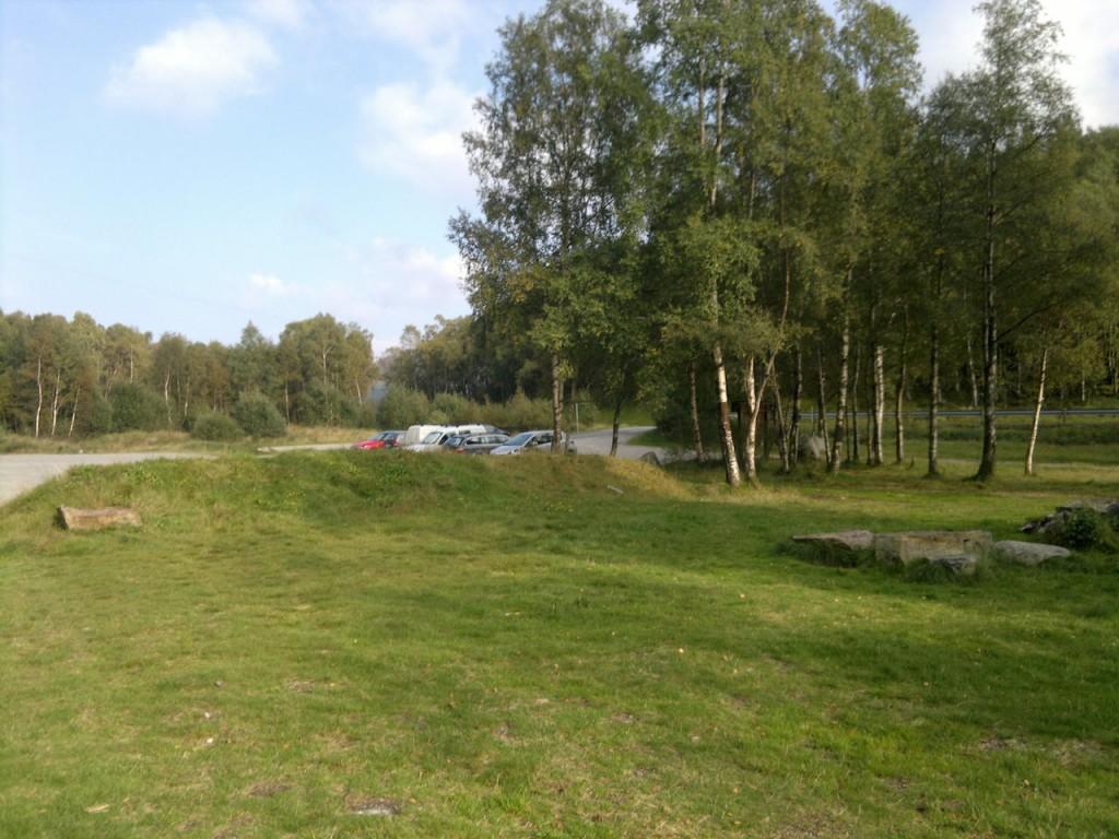Parkeringsplassen ved Tengesdalsvannet