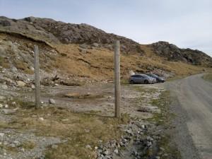 Parkering på Eikeland