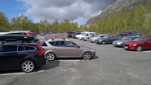 Stor og god parkeringsplass