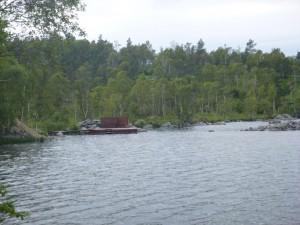 Badebrygga i Grindavatn