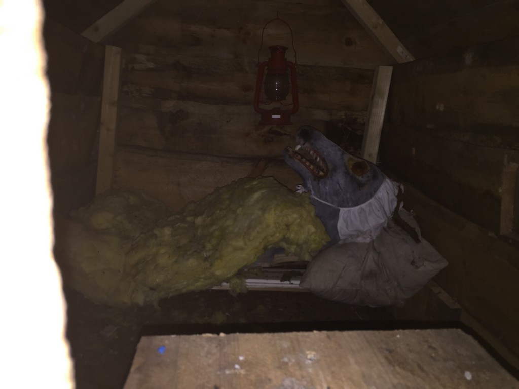 Og ulven sover inne i huset