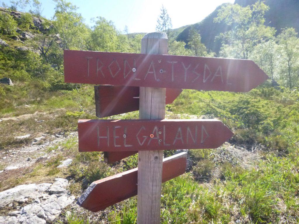 Flere veivalg langs løypa