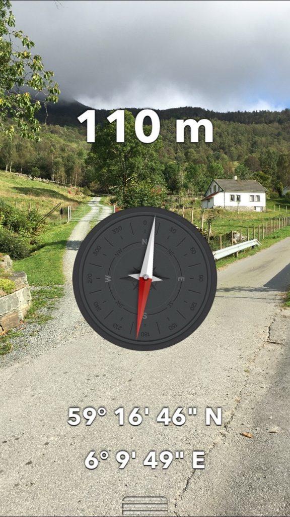 GPS posisjon på parkeringsplassen